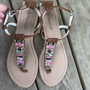 Francesca's jeweled sandals. Size 8.